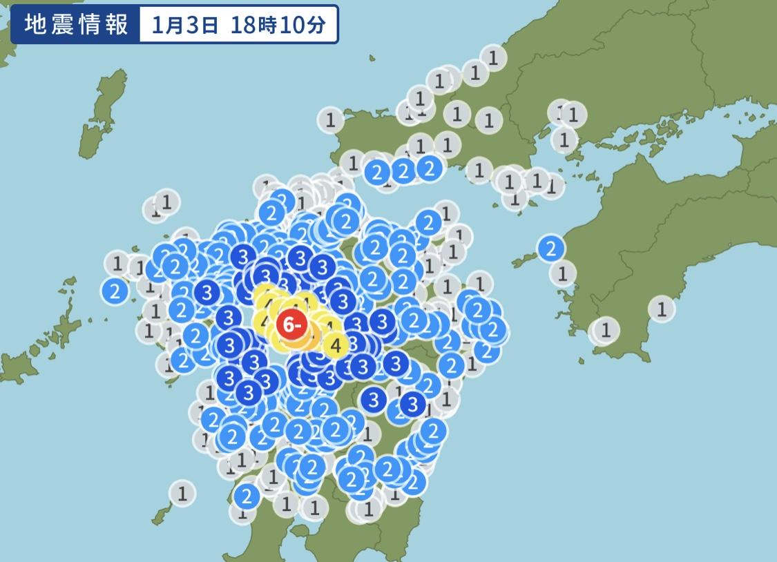 正月帰省ラッシュ時に熊本で震度6弱の大地震発生