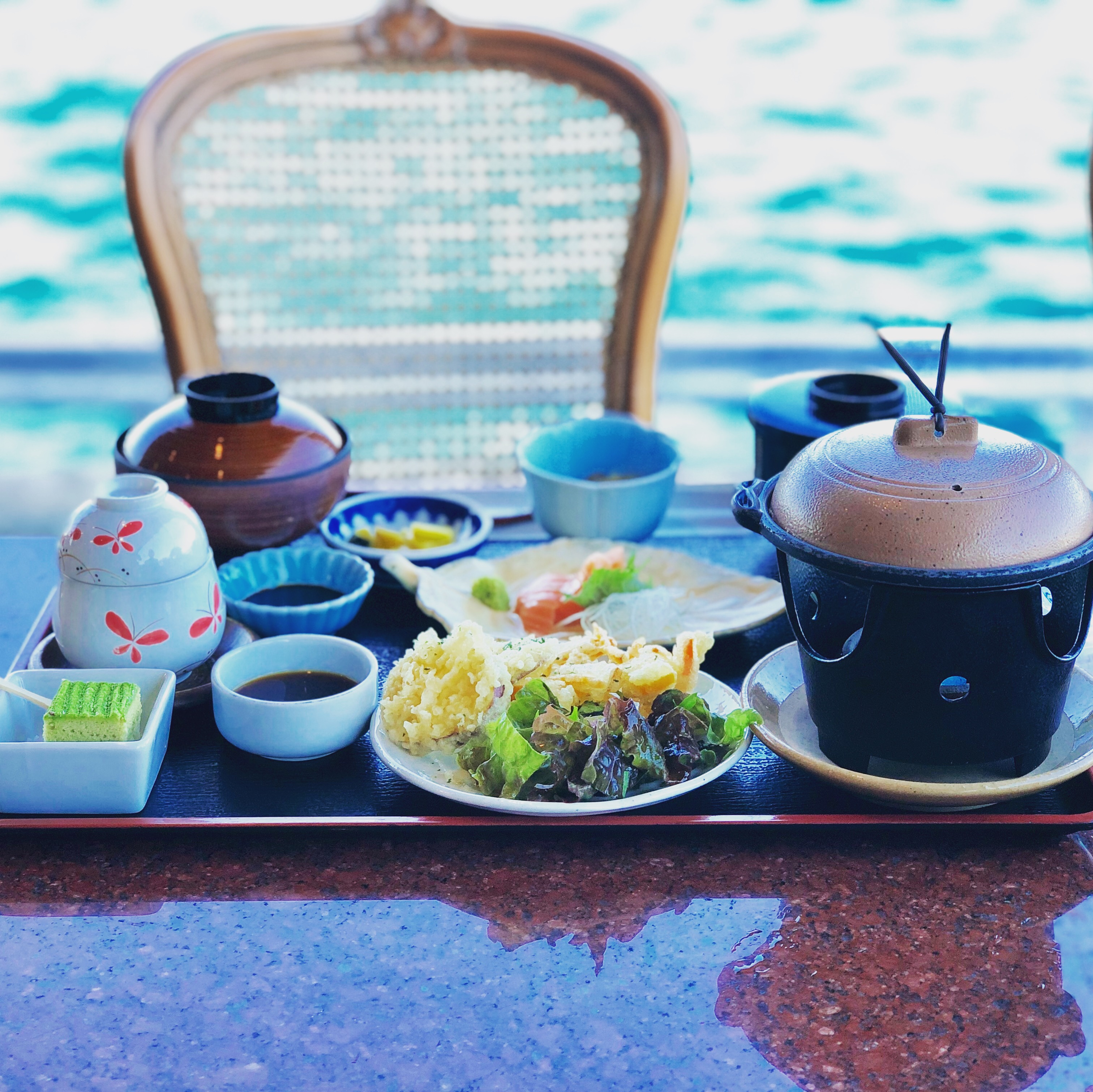 海を見ながら和食が食べられるラ•メール雅
